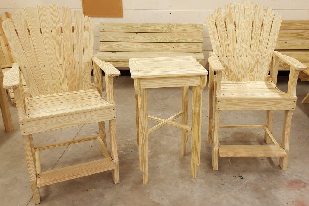 Tall Side Table (w Tall Deck Chairs)