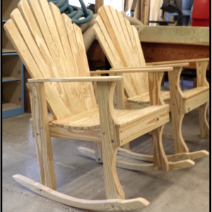 Carobell Station Club Enterprise Woodshop Country Rocking Chair