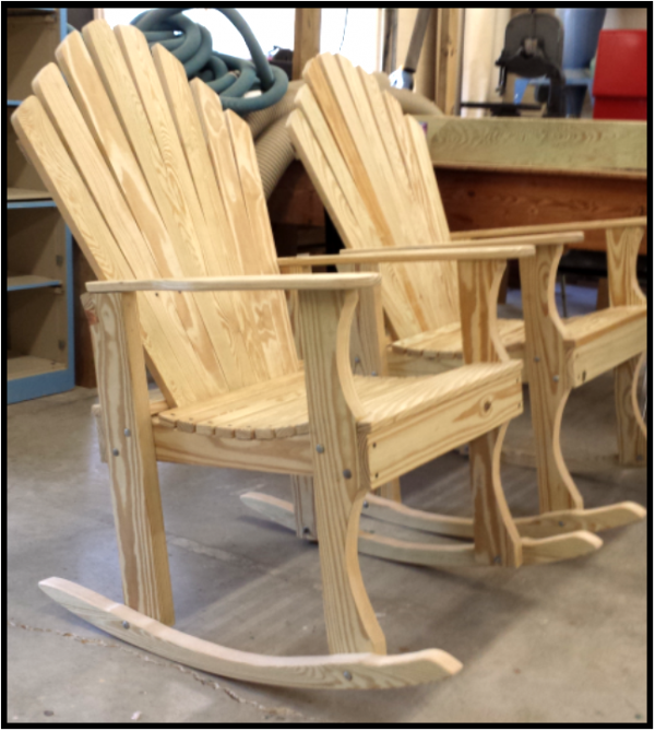 Carobell Station Club Enterprise Woodshop Country Rocking Chair