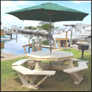 Carobell Station Club Enterprise Octagon Picnic Table