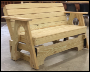 Carobell Station Club Enterprise Woodshop Porch Glider